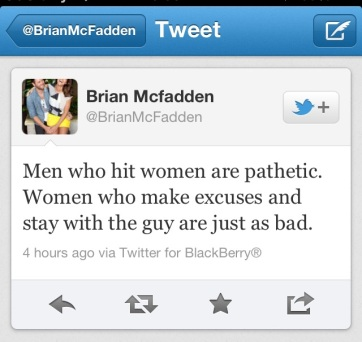 Brian's contribution to the discussion of Domestic Violence